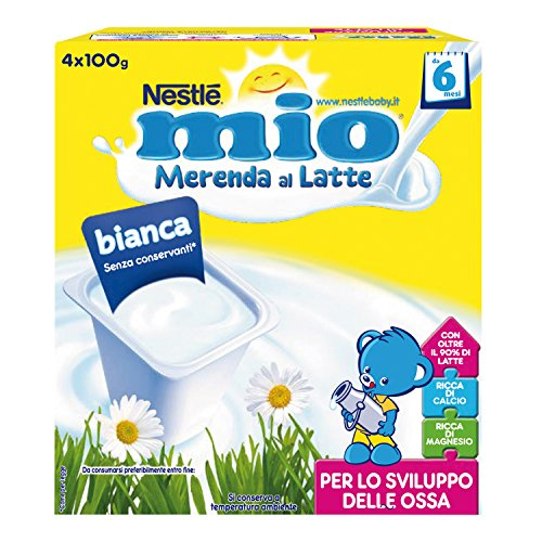 Nestlé Mio Merenda al Latte Bianca da 6 Mesi 24 vasetti plastica