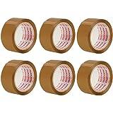Packatape® - 6 rouleaux de ruban d'emballage marron de 48 MM x 66 M pour colis et boîtes de bande de conditionnement