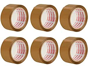 Packatape - 6 Rolls Per Pack 48MM x 66M Brown Packaging Tape for Parcels and Boxes. This 6 rolls pack of Heavy Duty Brown Packing Tape Provides a Strong, Secure and Sticky Seal for your Boxes