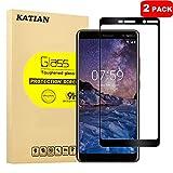 [2 Pack] Nokia 7 Plus Protecteur D'écran, KATIAN 0.3mm Film [Anti-empreintes][Résistant aux Rayures][sans Bulles] HD 99% Haute Transparence Screen Protector Verre Trempé pour Nokia 7 Plus (Noir)