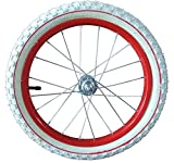 16 Zoll Laufrad komplett Stahlfelge rot für Anhänger mit Muttern