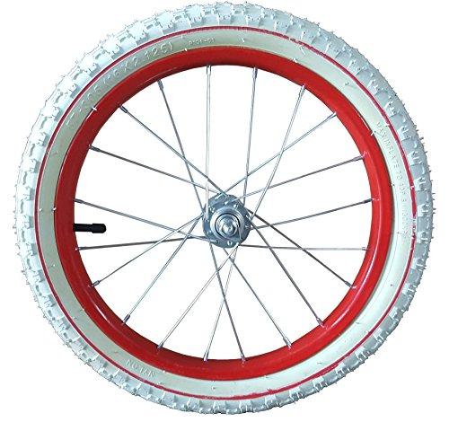 16 Zoll Laufrad komplett Stahlfelge rot für Anhänger mit Muttern 16×2.125