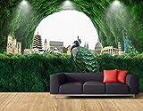tapete frisch wald tourismus international architektur tv hintergrund wände grün ländlich wind 3d wallpaper 430 * 300