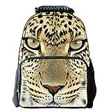 KAXIDY Sac à Dos Enfant 3D Photo Animale Sac école Scolaire Cartable pour Garçons Filles (Tiger)