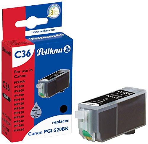 Pelikan Druckerpatrone C36 ersetzt Canon PGI-520BK, Schwarz (pigment)
