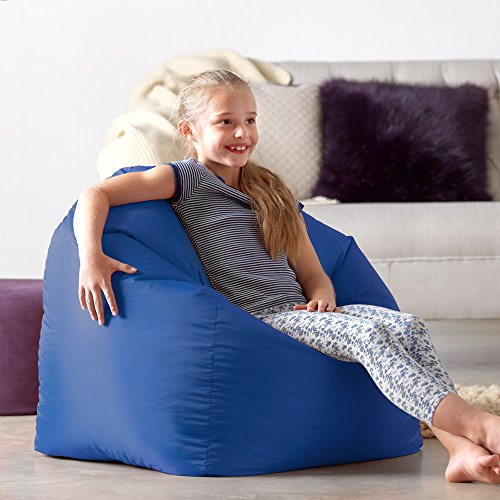 Bean Bag Bazaar Hi-Rest Chair - Kids Teens - Indoor Outdoor Childrens BeanBag (Blue, Large)