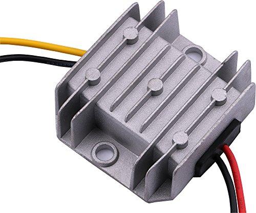 Yeeco 72W 3A Wasserdicht Synchron DC zu DC Steigern Stromspannung Konverter Regler 5-22V bis 6-24V Einstellbar Aufsteigen Energieversorgung Transformator Auto Fahrzeug Motor Volt Booster Modul Tafel
