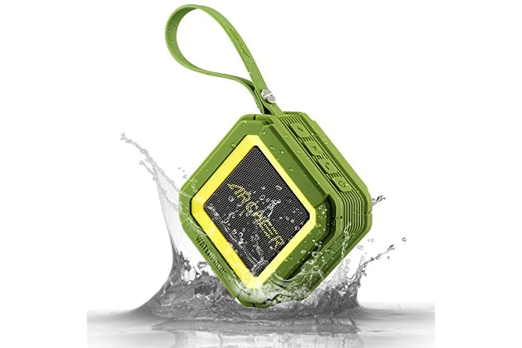 Bluetooth Speakers, Archeer Outdoor Portable Bluetooth Speakers with Microphone Robust Bass for Shower/Sports A106, Green