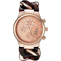Jivago Women's JV1229 Analog Display Swiss Quartz Two Tone Watch