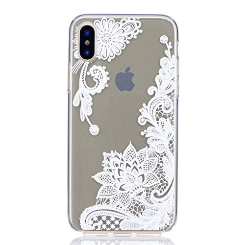 "Coque pour Apple iPhone X , IJIA Transparent Cheval TPU Doux Silicone Bumper Case Cover Shell Housse Etui pour Apple iPhone X (5.8"") FD37"
