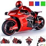Omiky Rc Motorrad,1:16 2.4G Rennen 4 Kanal RC 2 Räder Rapid Drift Fernbedienung Motorrad (Rot)