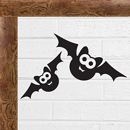 Twin Black Bat Halloween Furchtsam Gothic Vinyl Decal Wandaufkleber Car Fenster by Inspired Walls®