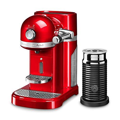 KitchenAid 5kes0504eer/4Nespresso, Nespresso Capsule, Macchina con Aeroccino, Empire Red