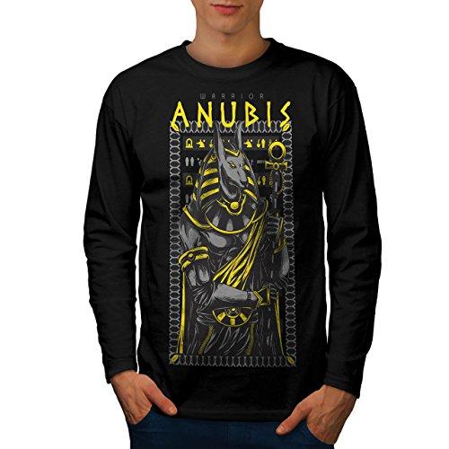 Anubis Alt Gott Mode Herren M Langarm-T-Shirt | (Kostüm Anubis Weibliche)