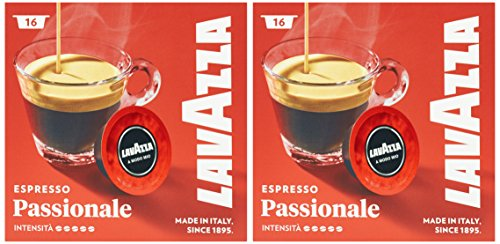 Lavazza A Modo Mio Café Espresso Passionale 16 capsules - Lot de 2
