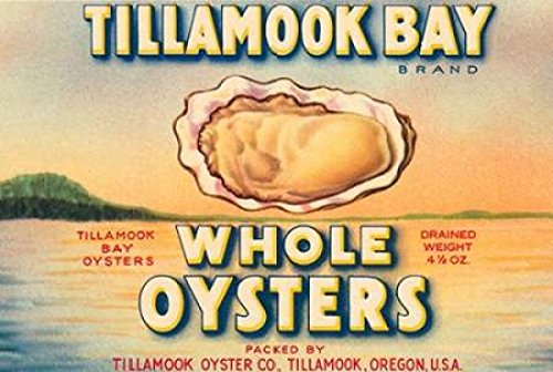 The Poster Corp Retrolabel - Tillamook Bay Whole Oysters Kunstdruck (25,40 x 35,56 cm) Tillamook Bay