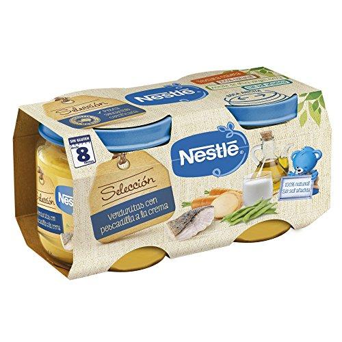 Nestlé Selección Tarrito de puré de verduras y carne, variedad Verduritas con...