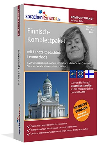 Finnisch-Komplettpaket: Lernstufen A1 bis C2. Fließend Finnisch lernen mit der...