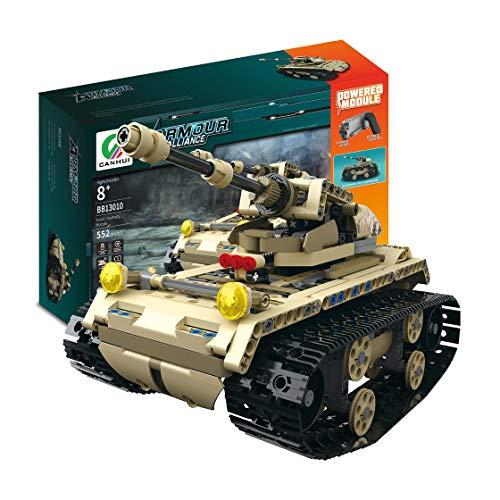 Hermosairis MoFun-13010 2.4G 4H USB-Ladebaustein simulierte Licht Track Tank 552pcs DIY elektrische RC Auto-Modell für Kinder -