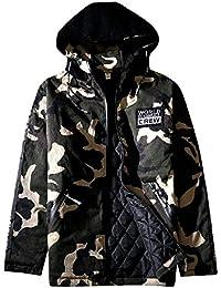 BOMOVO Chaqueta de invierno Hombre Parka Camuflaje Estilo militar Ejército Chaqueta Acolchada Chaqueta deportiva Chaqueta con capucha