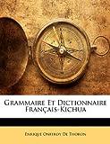 grammaire et dictionnaire franais kichua