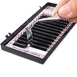 Künstliche Wimpern Wimpernverlängerung Falsche Wimpern Einzelwimpern Erweiterung Individuelle Gefälschte Wimpern Einzelne Volumen Natürlich C-Curl 0.07/0.15mm Dicke (0.15 C 10mm)
