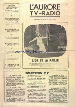 AURORE TV RADIO (L') du 05/08/1974 - SELECTION...
