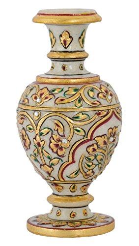 Saudeep India Trading Corporation Marble Flower Pot (15 cm x 7 cm...