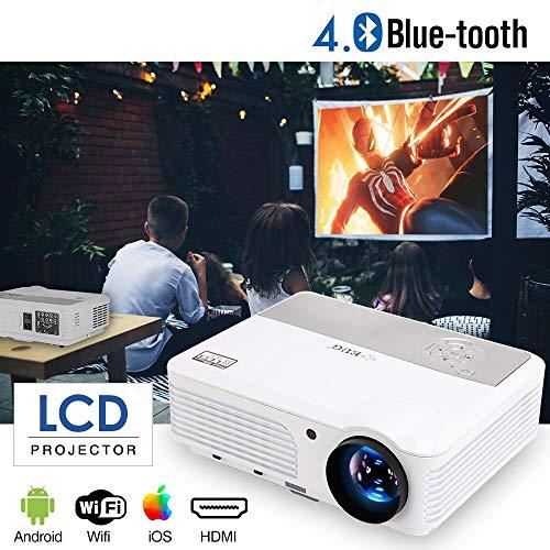 WiFi Proyector de Video Bluetooth 4200 lúmenes Soporte Full HD 1080P,  Proyector de Cine en casa Multimedia con HDMI USB VGA para Smartphone DVD  PS4