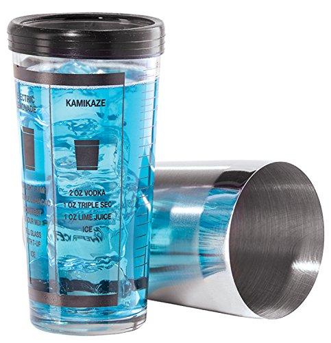 OGGI Professional 15-Ounce Glas und Edelstahl Cocktail Shaker Set Oggi Shaker