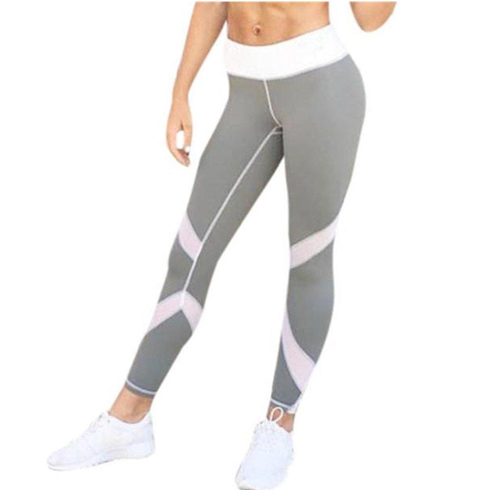 ee24b3308ae5 Homebaby Striscia Sport Leggings Sportivi Donna Pantaloni – Eleganti  Leggings Yoga Opaco Fitness Spandex Palestra Pantaloni Leggins Push Up- ...