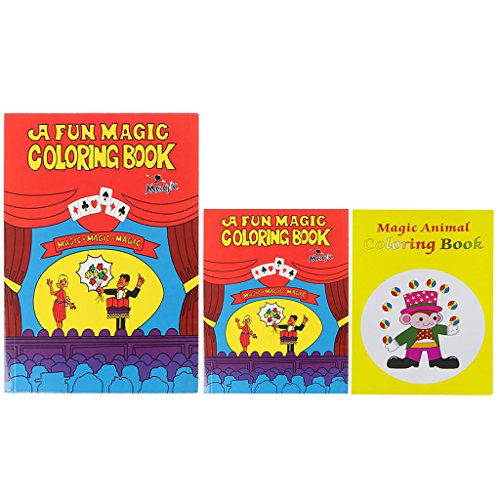 Xuniu Magic Coloring Book, Comedy Magic Coloring Book Trucos de Magia Illusion Kids Toy Gift Funny Baby Toy Red Medium
