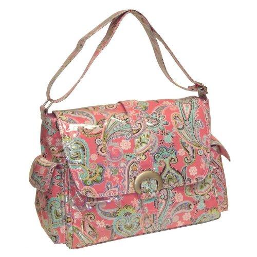 kalencom-candy-sac-a-langer-coton-plastifie-avec-boucle-motif-cachemire-rose
