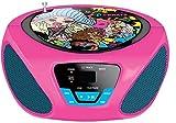 Sakar - Lecteur CD Boombox pour Enfant - Radio FM/AM - Batterie Portable - Entrée auxiliaire pour iPhone, Android, iPod, Lecteur MP3 - Alimentation Secteur (Bratz)