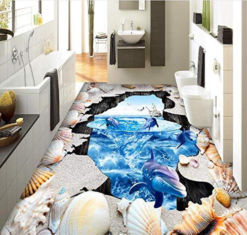 Heimwerker 3D-Bodenbelag PVC-Wandpaneel Ocean World Whirlpool 3D-Bodenmalerei European Style Wandbild Selbstklebend