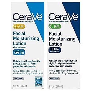CeraVe Facial Hidratante Loción 3oz. AM/PM Bundle (embalaje puede variar)