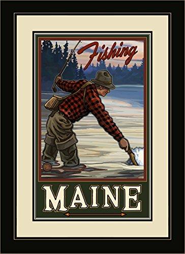 Northwest Art Mall pal-1261mfgdm EFF Maine Abend Fly Fisherman gerahmtes Wandbild Art von Künstler Paul A. lanquist, 13von 40,6cm