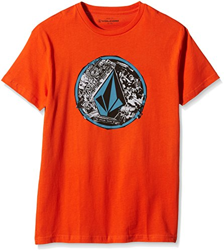 Volcom Punk Circle Maglietta da ragazzo a maniche corte, Ragazzo, T-Shirt Punk Circle Shortsleeve, Why Rock Red, S