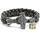 Tiwaz Rune Bead - Bracelet Viking Viking Marteau de Thor Marteau de Thor - 100% fait...