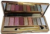Sporthway Women 9 Colors Waterproof Make UP Glitter Eyeshadow Palette with Brush