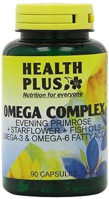 Health Plus Omega Complex Omega-3 & Omega-6 Supplement - 90 Capsules from Health + Plus Ltd