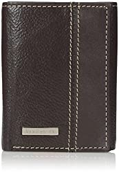 Van Heusen Mens Mens Leather Pebble Grain Trifold Wallet