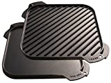 Lodge 26.67 cm / 10.5 inch Pre-Seasoned Cast Iron Square Reversible Grill / - Best Reviews Guide