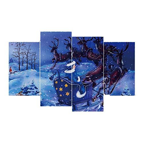Havanadd Weihnachtsdekorationen Wandaufkleber DIY Weihnachtsbaum Schneeflocke Weihnachten Fenster klammert Abziehbild-Wand-Aufkleber 4PCS Restaurant Café Hotel Home Office Dekor