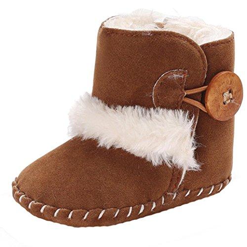 Fulltime® Chaussures de bébé, pour 0-18 Mois Enfants, Bottes de Neige Molles de bébé de garçon Mignon de Filles