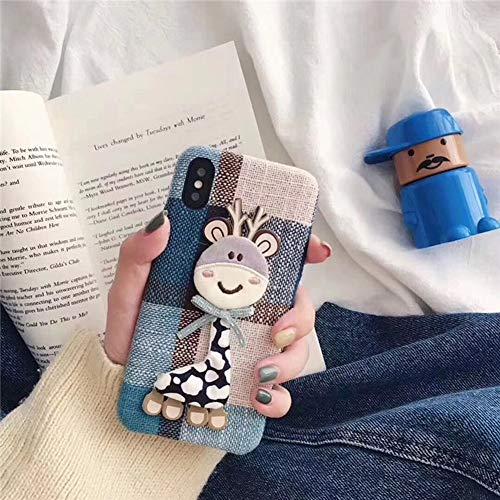 Aplicable iPhone Caso XS MAX Fawn Hi Cute 6/6s/7/8plus Cubierta Protectora 2019 Nuevo Extraño XR Funda Moda Hipster Viento Teléfono Móvil Shell Franela,2,iPhoneX/iPhoneXS