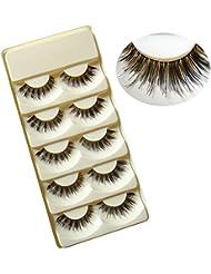 Beautiful 5 Pairs Handmade False Eyelashes Eye Lashes Extension Makeup Tool(20)