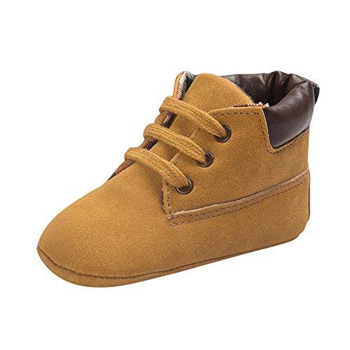 269a8620c2620 LuckyGirls Chaussures Fond Souple Antidérapant de Bébé Unisexe Bébé Suède  Chaussons en Cuir Doux Chaussures bébé