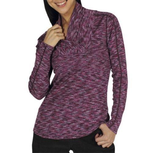 exofficio Damen Chica Cool Schalkragen Long Sleeve Shirt pflaume