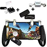 PUBG Mobile Game Controller - WENTS Contrôleur de Jeu Mobile Comprend Joystick Gamepad et Une Paire de Déclencheurs, Compatible avec PUBG / Fortnite / Règles de Survie